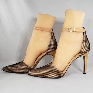 Vince Camuto Maveena Fishnet Ankle Heels Size 7
